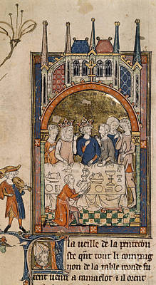 King Arthur's Feast Art Print by British Library