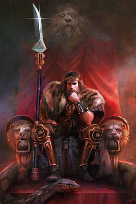 Barbarian Digital Art - King By His Own Hand by Steve Goad