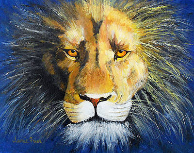 Painting - King Cat by Jamie Frier