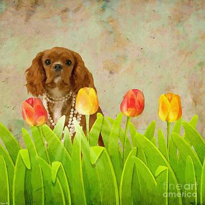 Painting - King Charles Cavalier Spaniel by Liane Wright