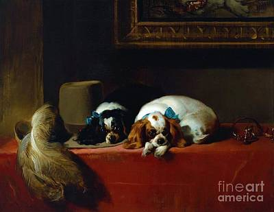 King Charles Spaniels Art Print by Pg Reproductions