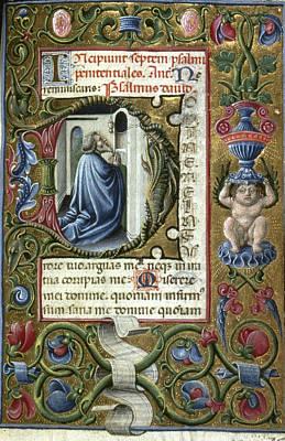 Painting - King David At Prayer by Granger
