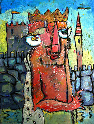 King David Hiding From Absalom Art Print by Charlie Spear