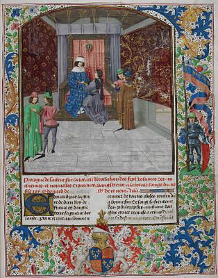 King Edward Iv Enthroned Art Print
