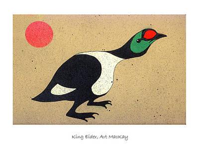 Mixed Media - King Eider by Art  MacKay