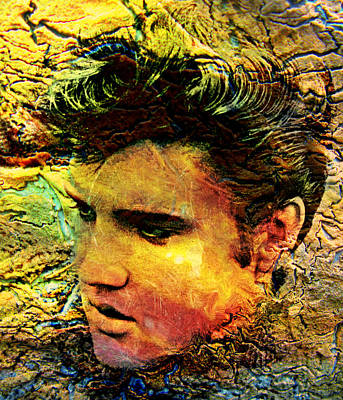 King Elvis Art Print by Ally  White