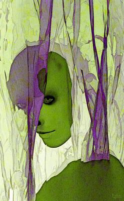 Art Print featuring the digital art King Entombed by Matt Lindley