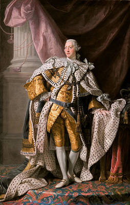 Art Print featuring the painting King George IIi In Coronation Robes by Celestial Images