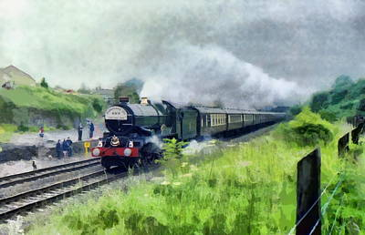 Digital Art - 'king George V' Locomotive by Paul Gulliver