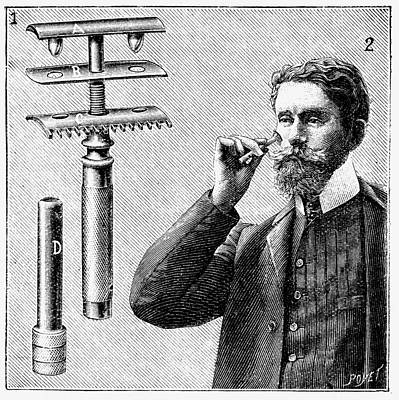 Engraving Photograph - King Gillette's Safety Razor by Universal History Archive/uig