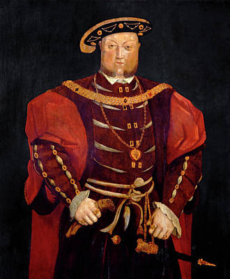 King Henry Viii Art Print by Bodleian Museum/oxford University Images
