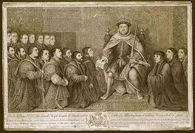 1700s Photograph - King Henry Viii by Museum Of The History Of Science/oxford University Images