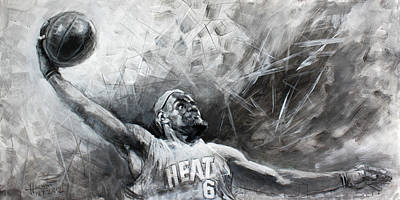 Heat Painting - King James Lebron by Ylli Haruni