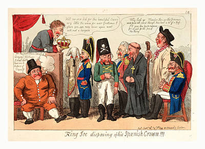 King Joe Disposing Of His Spanish Crown, England Art Print