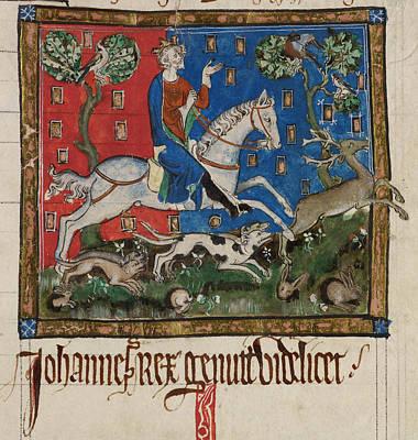 King John Hunting Art Print by British Library