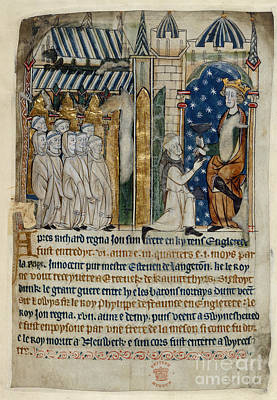 King John Is Offered Poison Print by British Library