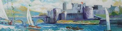 Painting - King Johns Castle Limerick Ireland by Paul Weerasekera