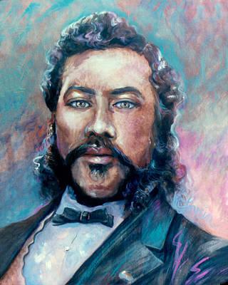 Painting - King Kalakaua by Mary Lovein