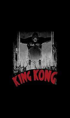 Gorilla Digital Art - King Kong - At The Gates Poster by Brand A