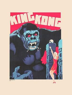 Gorilla Digital Art - King Kong - Bright Poster by Brand A