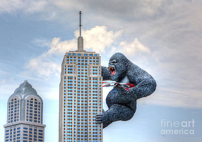 King Kong Comes To Myrtle Beach Art Print