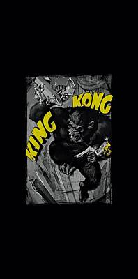 Gorilla Digital Art - King Kong - Crushing Poster by Brand A