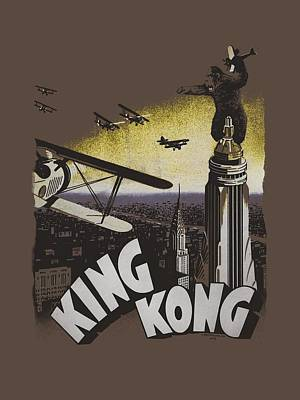 Gorilla Digital Art - King Kong - Final Battle by Brand A