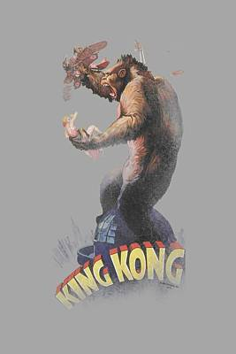 Gorilla Digital Art - King Kong - Last Stand by Brand A