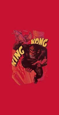 Gorilla Digital Art - King Kong - Plane Grab by Brand A