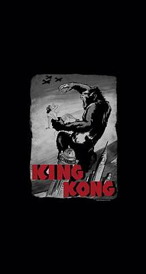Gorilla Digital Art - King Kong - Planes Poster by Brand A