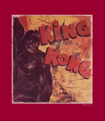 Empire State Building Digital Art - King Kong - Primal Rage by Brand A