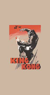 Gorilla Digital Art - King Kong - Red Skies Of Doom by Brand A