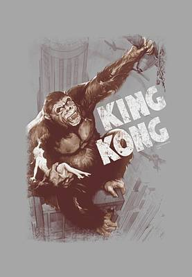 Empire State Building Digital Art - King Kong - Sepia Snag by Brand A