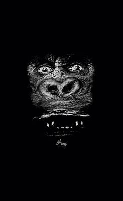 Gorilla Digital Art - King Kong - Up Close by Brand A