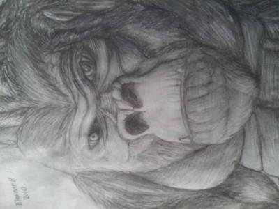 King Kong Drawing - King Kong's Self Portrait by Eleazar Hernandez