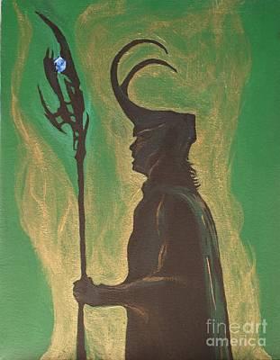 King Loki Art Print