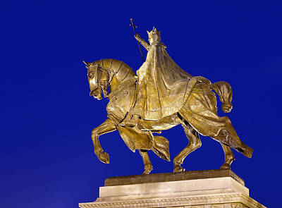 Saint Louis Mixed Media - King Louis Ix by Jack Rainey