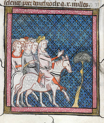 King Louis Vii Rides To Antioch Art Print by British Library