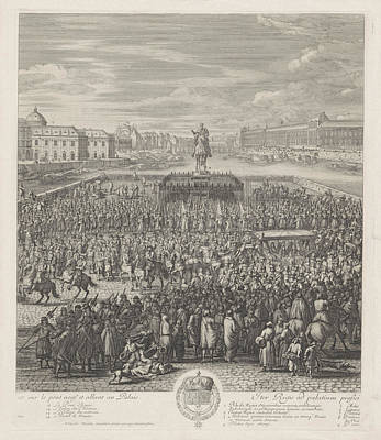 King Louis Xiv Of France Crossing The Pont-neuf Art Print