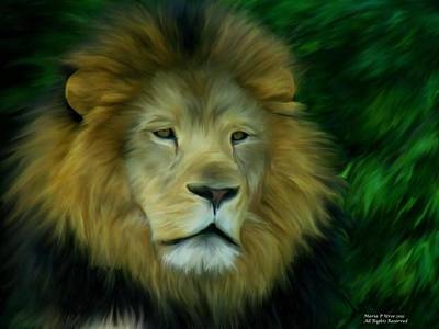 Art Print featuring the painting King by Maria Urso