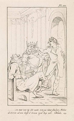Caricature Drawing - King Midas With Donkey Ears, Danil Veelwaard by Dani?l Veelwaard (i) And Jacob Smies And Fran?ois Bohn