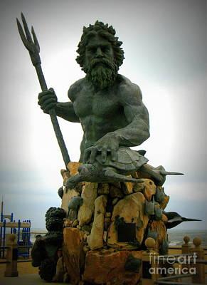 King Neptune Statue Art Print