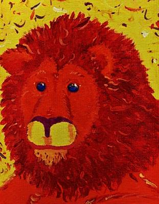Painting - King Of Beasts by Yshua The Painter
