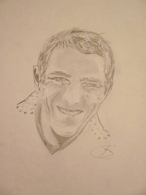 Steve Mcqueen Drawing - King Of Cool  by Sarah  Bush