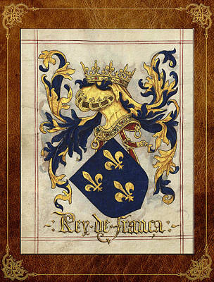 Digital Art - King Of France - Medieval Coat Of Arms  by Serge Averbukh