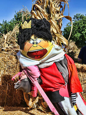 Photograph - King Of Hearts Scarecrow By Diana Sainz by Diana Raquel Sainz