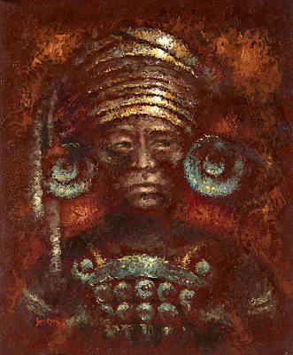Chichen Itza Painting - King Of Maya by Dmitry Spiros