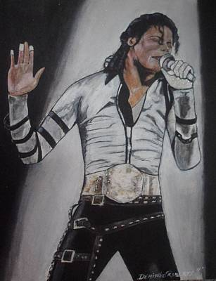 King Of Pop Art Print by Demitrius Roberts
