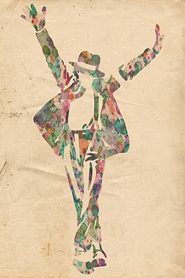 King Of Pop In Concert No 11 Art Print by Florian Rodarte