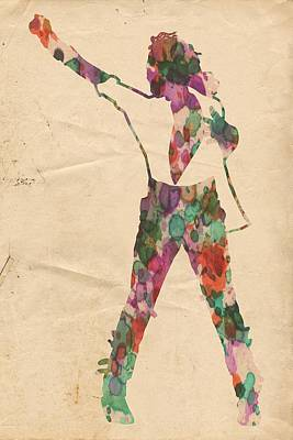 King Of Pop In Concert No 2 Art Print by Florian Rodarte